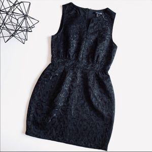 Forever 21 Black Textured Cocktail Dress